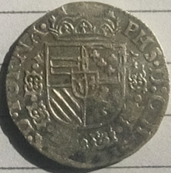 Philips II, 1/20 Philipsdaalder, Doornik, 1592